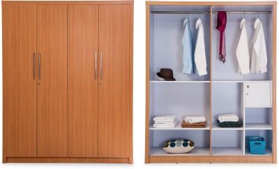 Durian Jasmine 4 Door Engineered Wood Free Standing Wardrobe