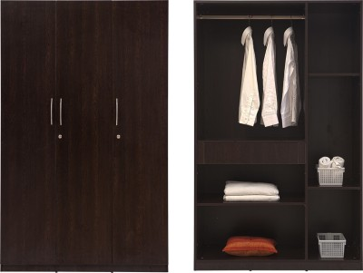 Durian Krish/56005 3 Door Engineered Wood Free Standing Wardrobe