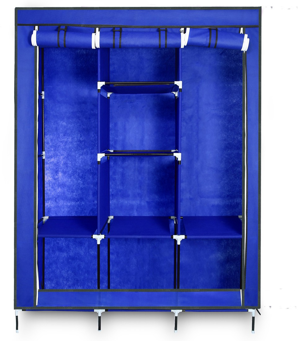 View Birdy Fabric Closet(Finish Color - Blue, 8 Door ) Furniture (Birdy)
