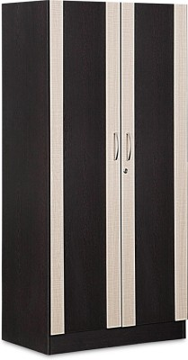 Debono Dreamy Two door Wardrobe in Wenge & Cross line by Debono Engineered Wood Free Standing Wardrobe