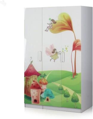 Royal Oak Comic Engineered Wood Free Standing Wardrobe(Finish Color - White, 3 Door )