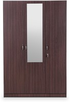 HomeTown Allen Engineered Wood 3 Door Almirah(Finish Color - Walnut, Mirror Included)