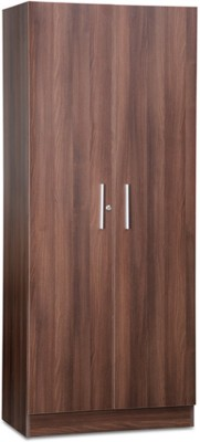 Debono Two door Wardrobe in Acacia Dark Matt Finish Engineered Wood Free Standing Wardrobe