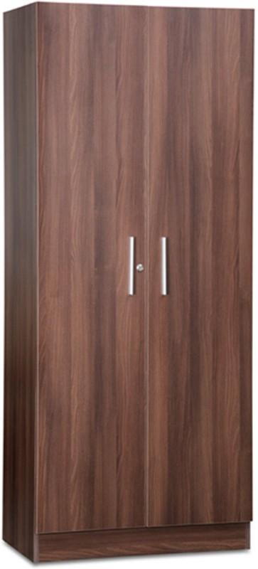 Debono Two door Wardrobe in Acacia Dark Matt Finish Engineered Wood Free Standing Wardrobe(Finish Color - Acacia Dark Matt, 2 Door )