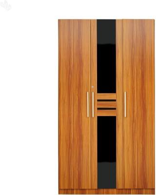 Royal Oak Iris Engineered Wood Free Standing Wardrobe(Finish Color - Natural, 3 Door )