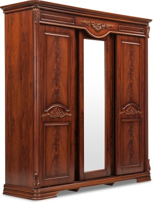 Durian CLARA/WD Engineered Wood Free Standing Wardrobe(Finish Color - Cherry, 4 Door )