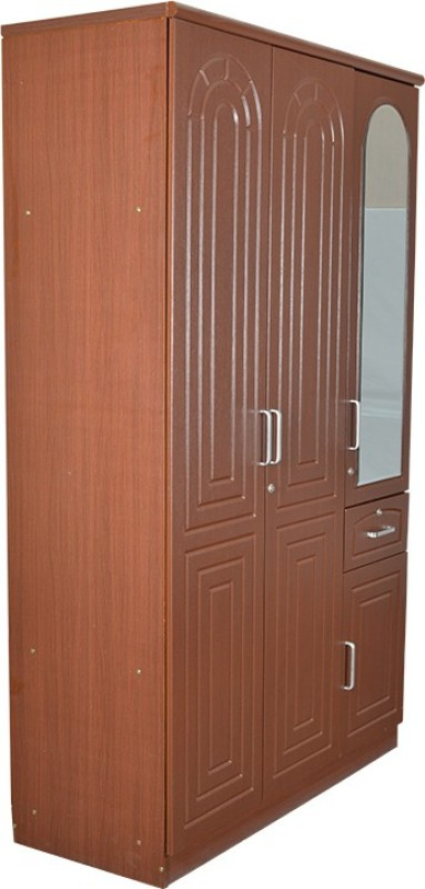 Parin Engineered Wood Free Standing Wardrobe(Finish Color - Brown, 4 Door )
