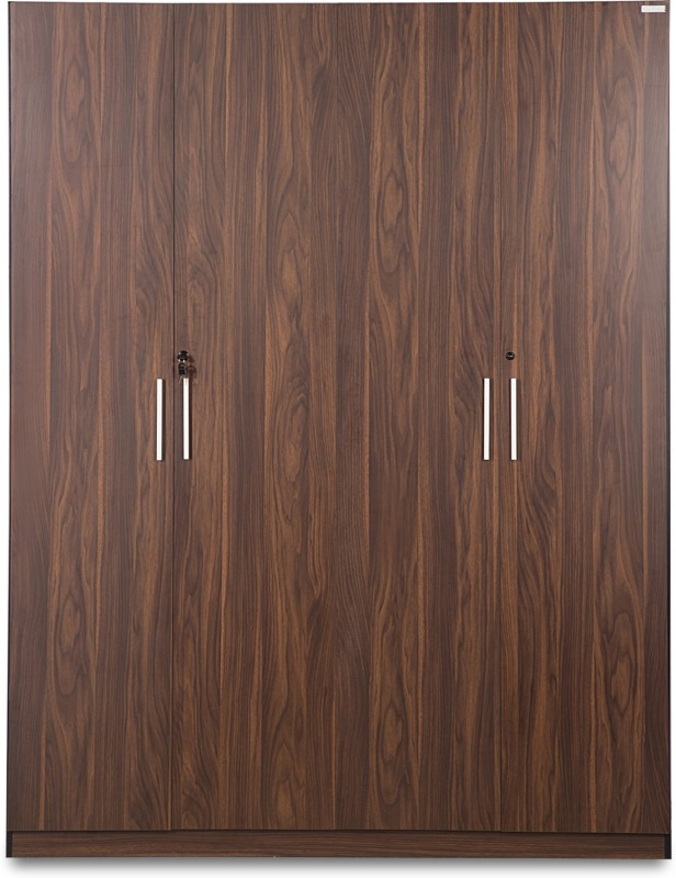 5d9a67847 Godrej Interio Snooze 4 Door Engineered Wood Free Standing Wardrobe(Finish  Color - Walnut