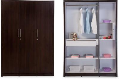Durian Rose 3 Door Engineered Wood Free Standing Wardrobe(Finish Color - Denver Oak, 3 Door )