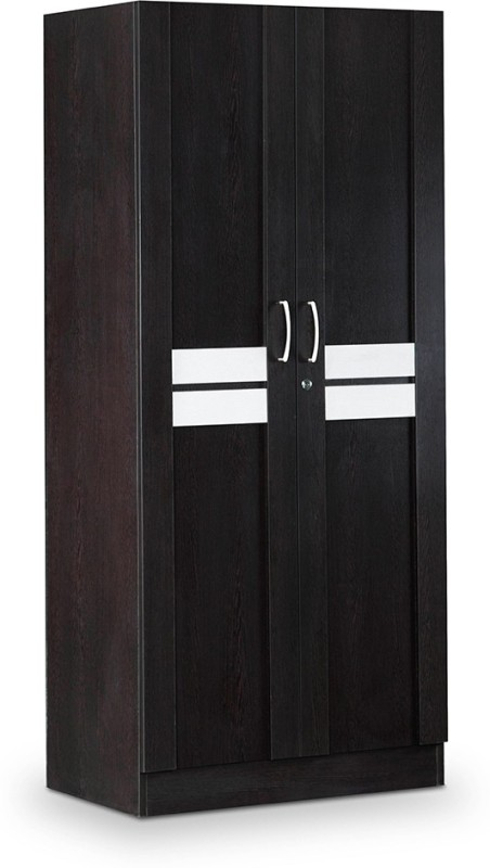 Debono Classy Two door Wardrobe in Wenge & Silver grey matt Finish by Debono Engineered Wood Free Standing Wardrobe(Finish Color - Wenge & Silver grey matt Finish, 2 Door )