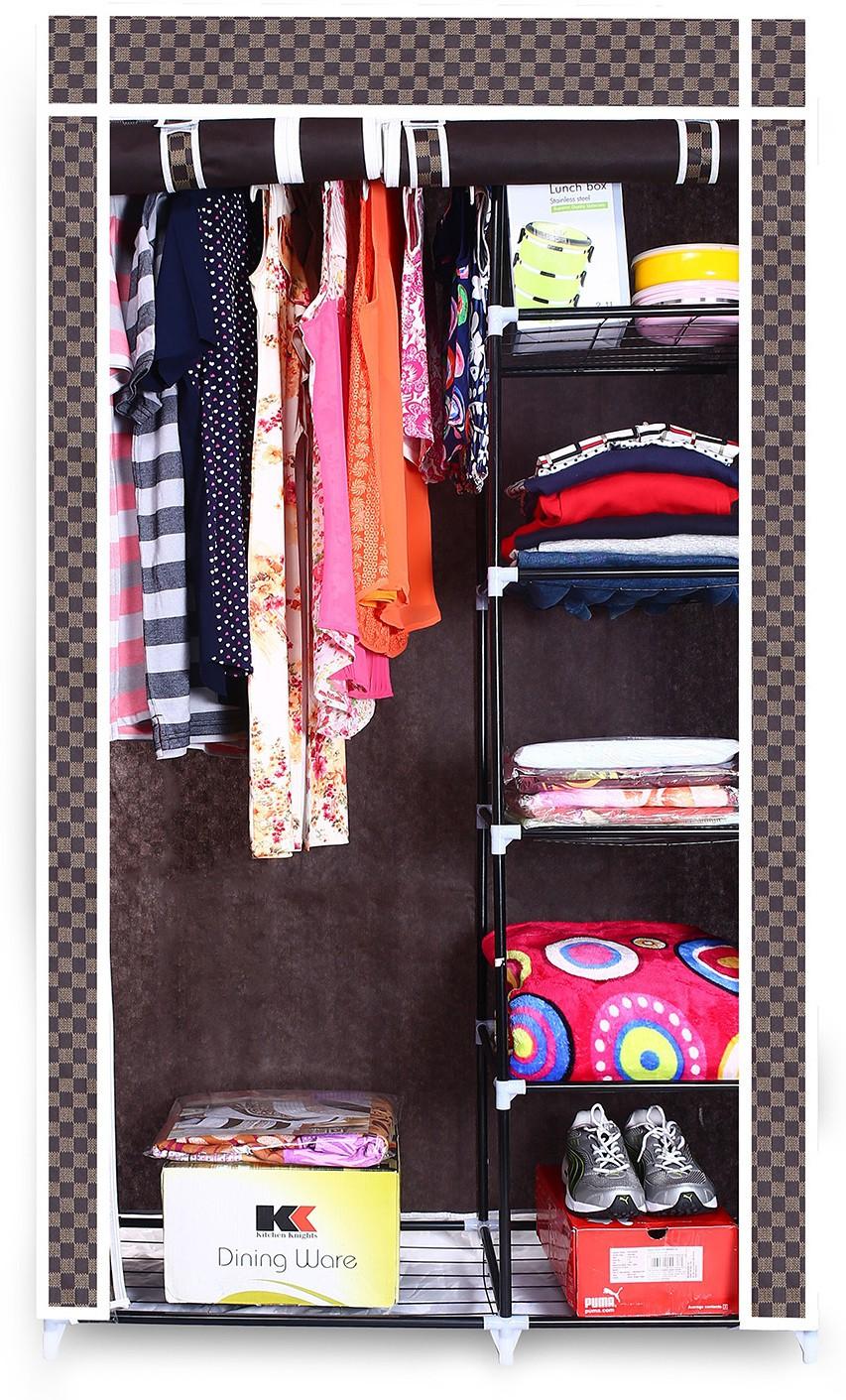 View Birdy Fabric Closet(Finish Color - brown, 2 Door ) Furniture (Birdy)