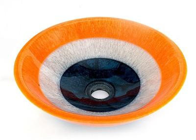 Mudit Resin Mu20 Table Top Basin(Orange, White, Blue)