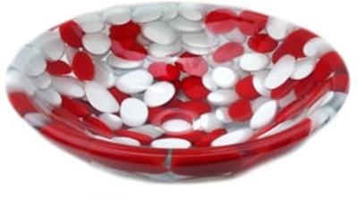 Mudit Resin Mu9 Table Top Basin(Red, White)