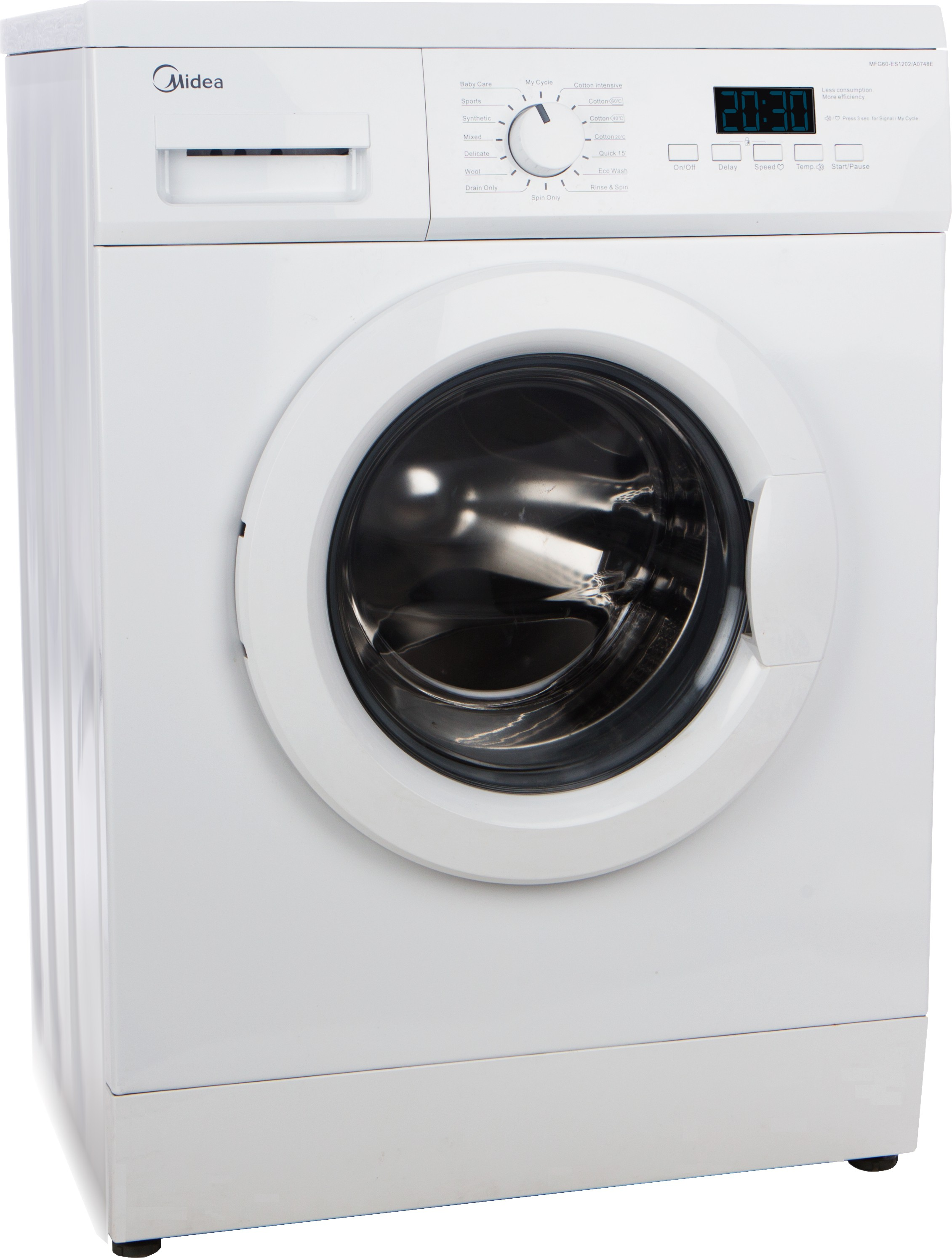 MIDEA MWMFL060GHN 6KG Fully Automatic Front Load Washing Machine