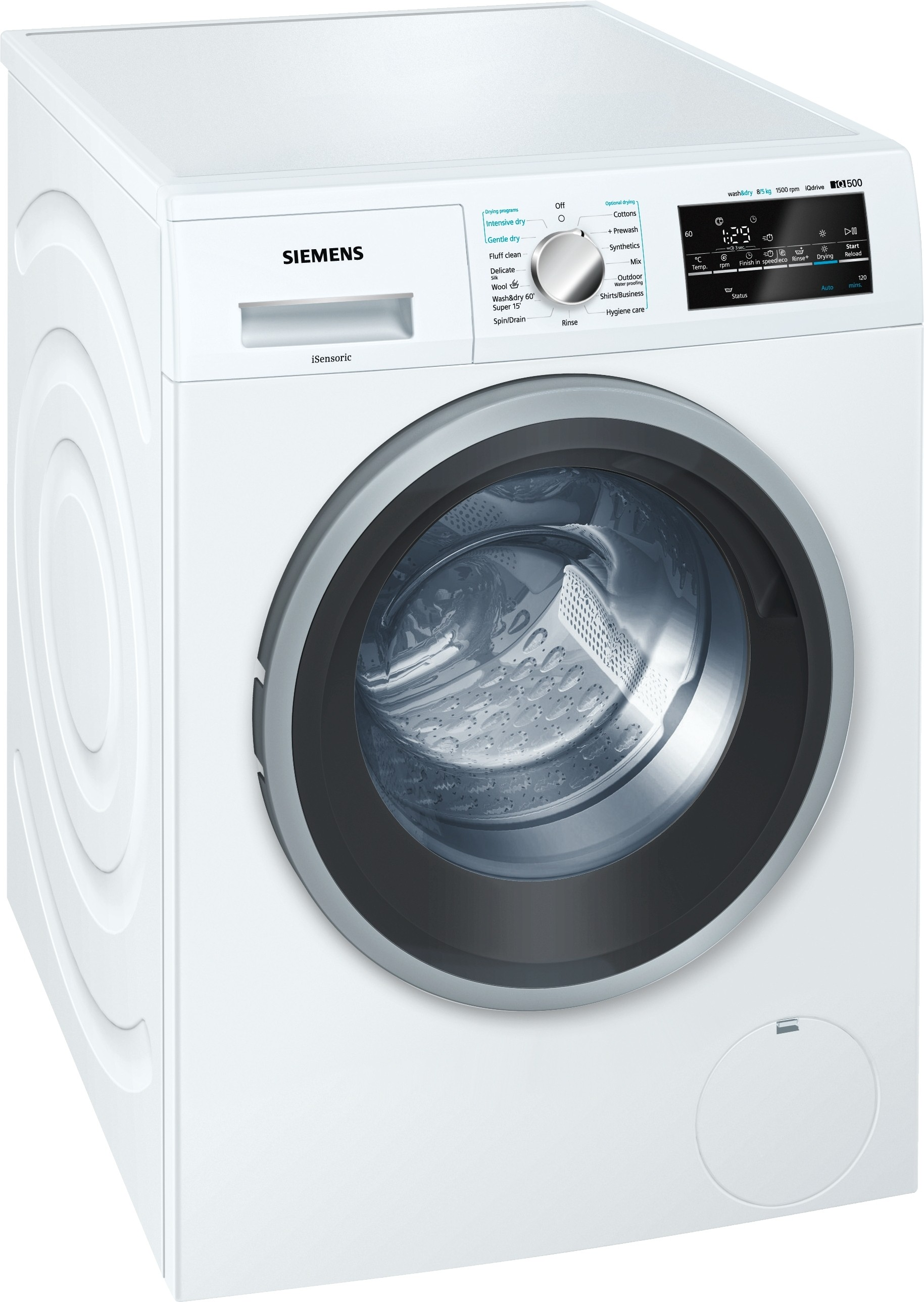 Siemens 8 kg Fully Automatic Front Load Washer with Dryer(WD15G460IN) (Siemens)  Buy Online