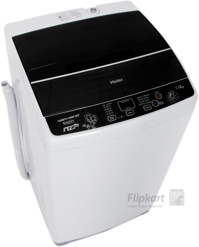 Haier 7 kg Fully Automatic Top Load Washing Machine Grey(HWM...