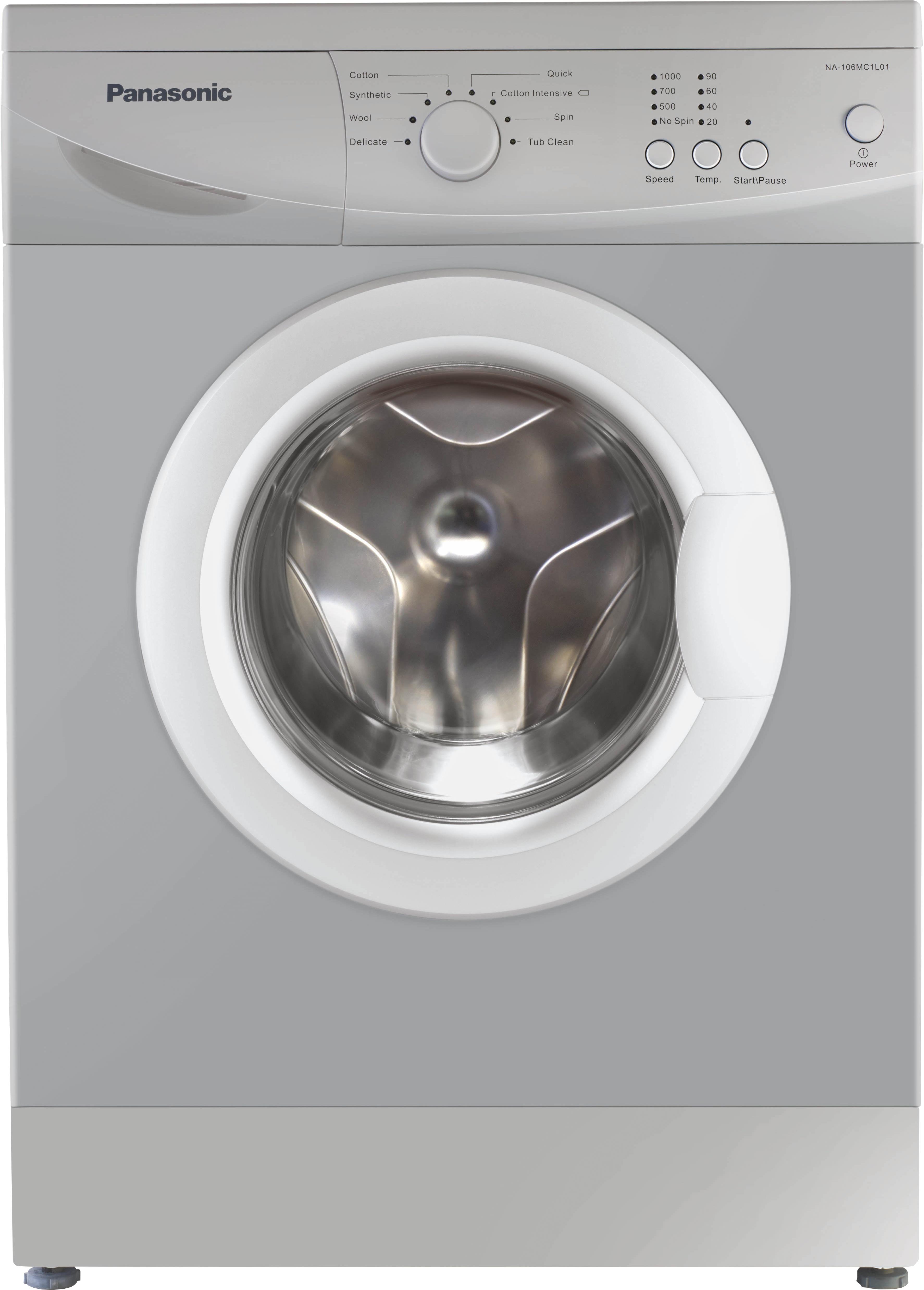 PANASONIC NA-106MC1L01 6KG Fully Automatic Front Load Washing Machine
