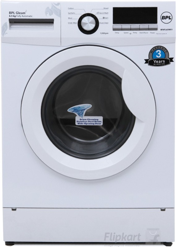BPL 6.5 kg Fully Automatic Front Load Washing Machine(BFAFL65WX1)