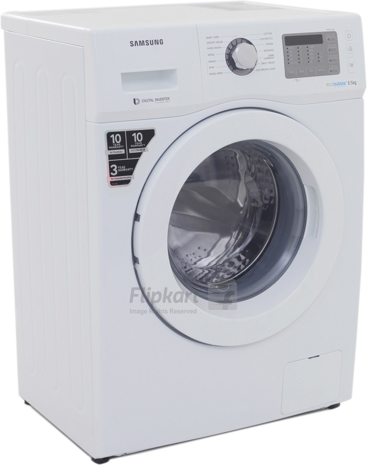 View SAMSUNG 6.5 kg Fully Automatic Front Load Washing Machine(WF652U2SHWQ)  Price Online