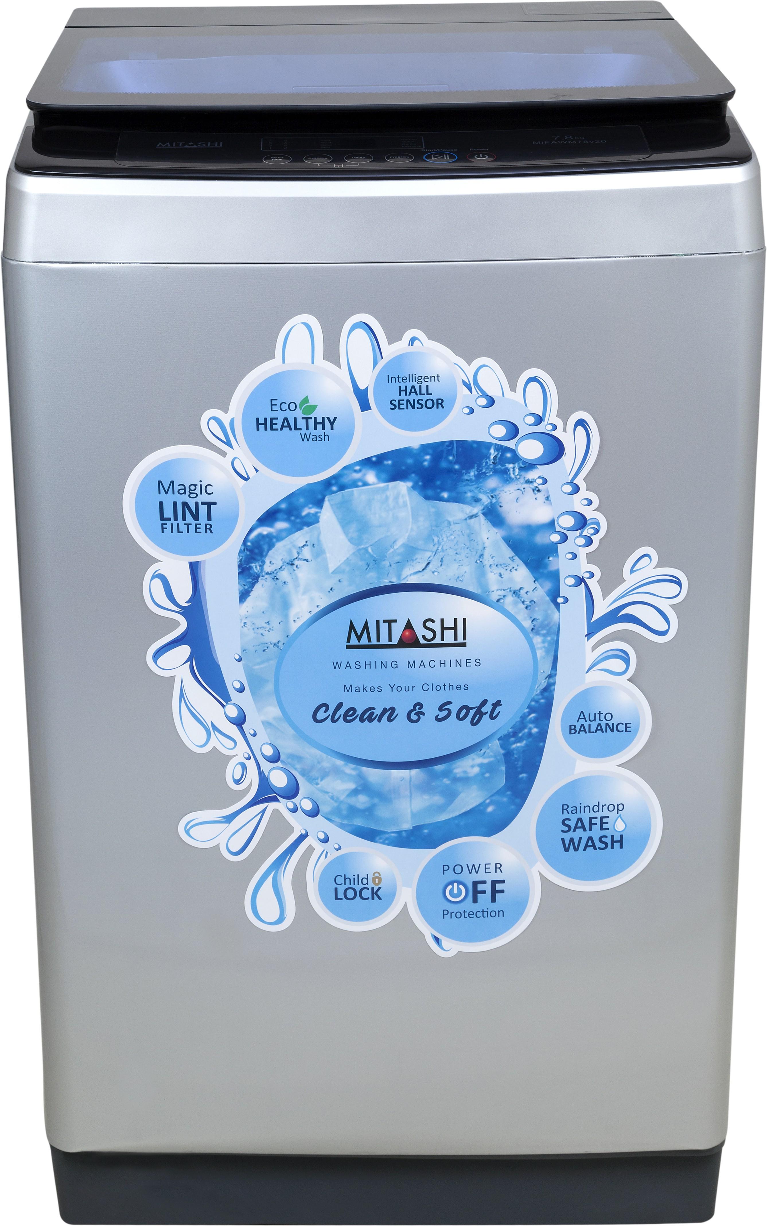 MITASHI MIFAWM78V20 7.8KG Fully Automatic Top Load Washing Machine