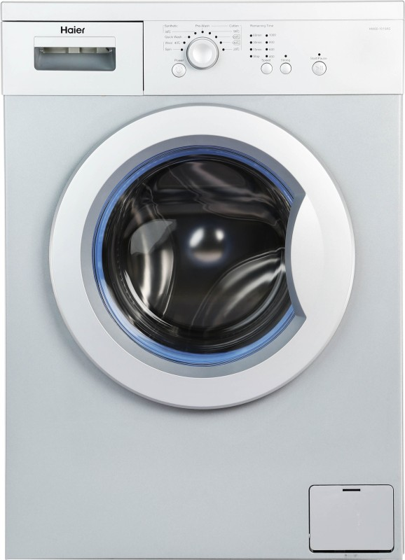 HAIER HW60-1010AS FULLY-AUTOMATIC FRONT-LOADING WASHING MACHINE (6 KG, SILVER AND GREY)