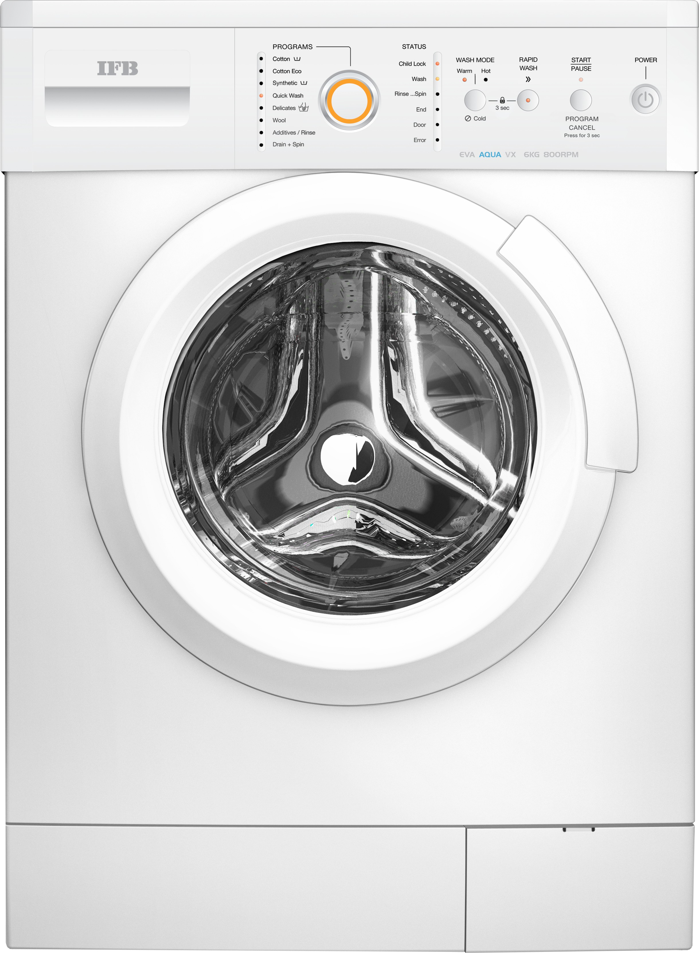 IFB EVA AQUA VX LDT 6KG Fully Automatic Front Load Washing Machine