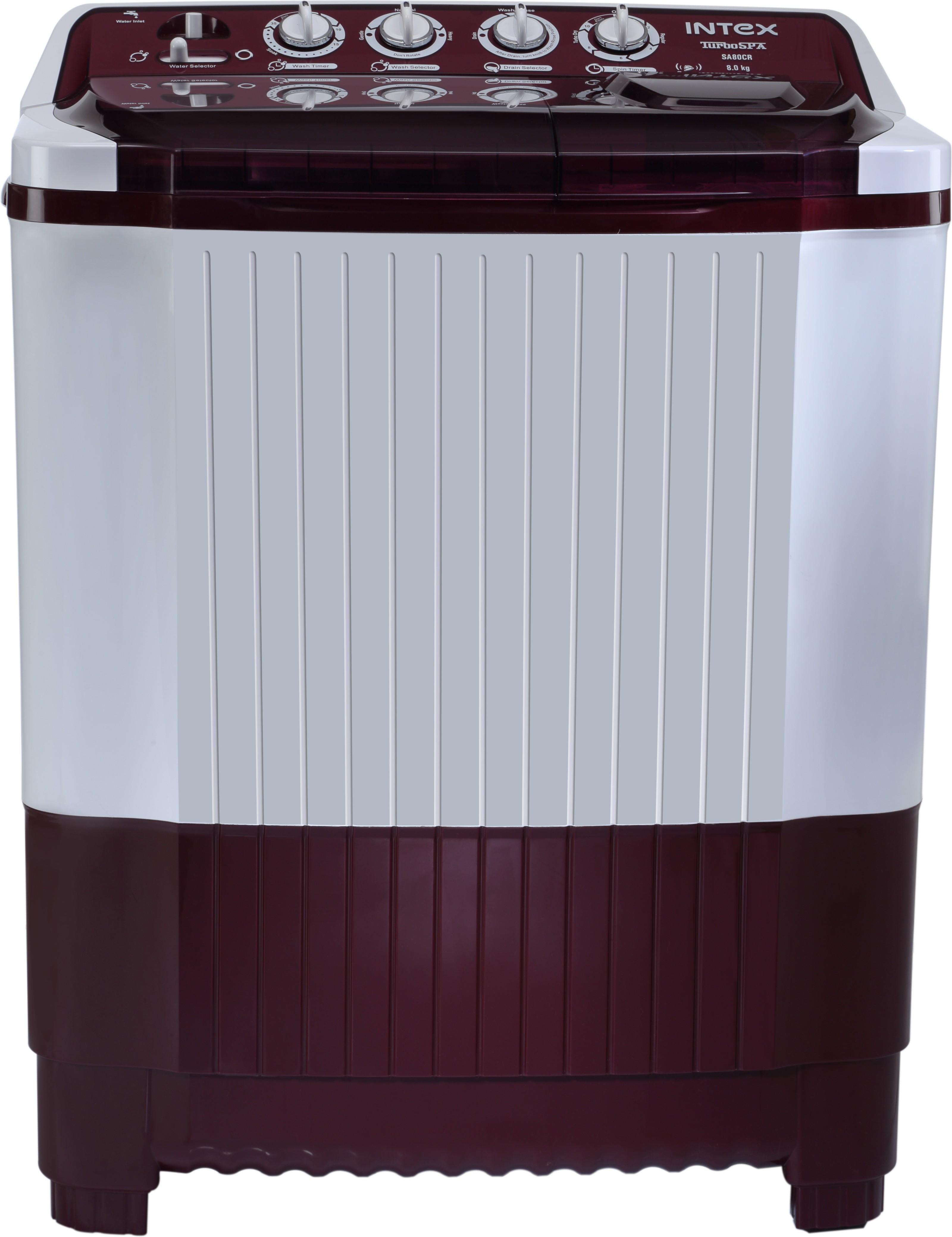 INTEX WM SA80 CR 8KG Semi Automatic Top Load Washing Machine