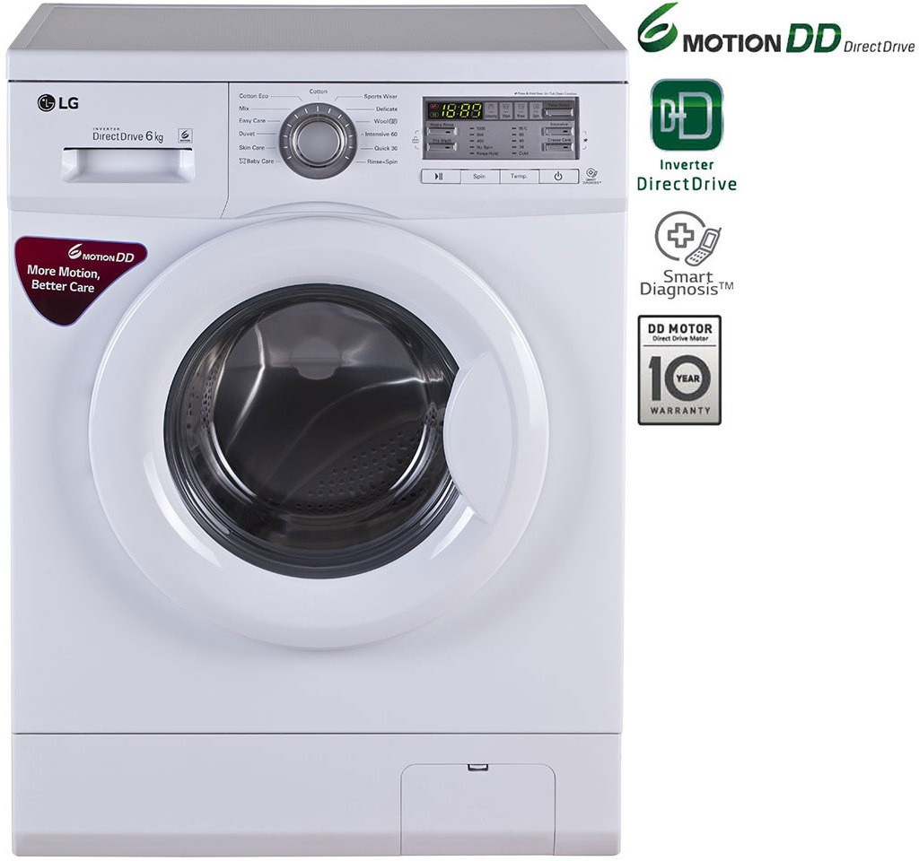 LG FH0B8NDL2 6KG Fully Automatic Front Load Washing Machine