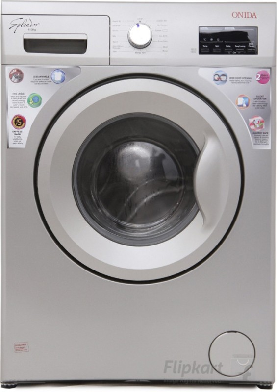 Onida 6 kg Fully Automatic Front Load Washing Machine Silver WOF6510PS
