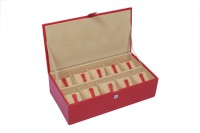 Ystore YWB25RD Watch Box(Red Holds 10 Watches)