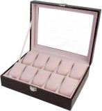 BlushBees 10 Slots Leather Watch Box (Br...