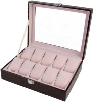 BlushBees 10 Slots Leather Watch Box(Brown Holds 10 Watches)