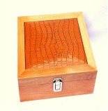 Kuero Crocodile Leather Wooden Watch Box...