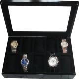 SLK Wooden Watch Box (Black, Holds 10 Wa...
