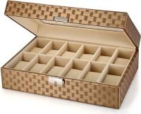 Inventure Retail 12 Slot PU Leather Organizer (Savy Golden) Watch Box(Savy Golden Holds 12 Watches)
