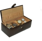 Borse BWC002 Watch Box (Brown, Holds 4 W...