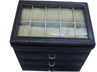 Essart Protection Case for watches Watch Box(Brown Holds 40 Watches)