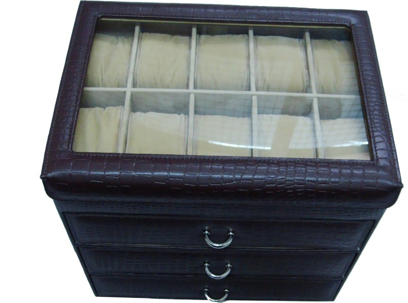 Essart Protection Case for watches Watch Box(Brown, Holds 40 Watches)