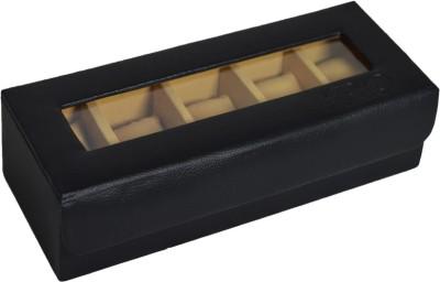 Krio Designs Premium Cushioned Watch Organizer Box Case For Men Women Leather Sports Wrist Watches Watch Box
