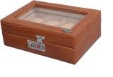 Laveri Leather WB GT 8 Watch Box (Brown,...