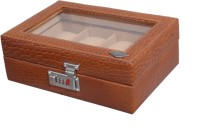 Laveri Leather WB GT 8 Watch Box(Brown Beige Holds 8 Watches)