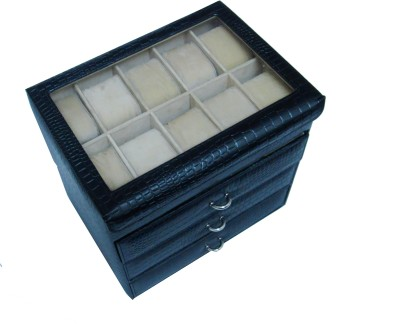 Essart Protection Case for watches Watch Box(Black, Holds 40 Watches)