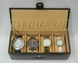 Borse WCOO2 Watch Box (Brown, Holds 4 Wa...