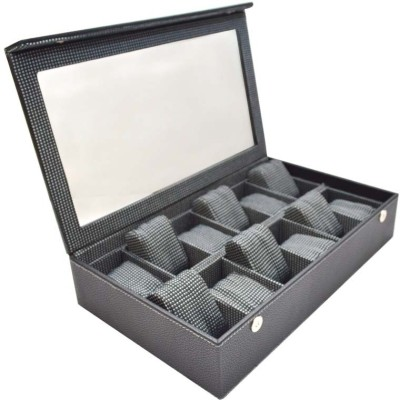 Knott Watch case/Box Watch Box(Black, Holds 12 Watches)