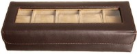 Laveri LL WB 5GT Watch Box(Brown Beige Holds 5 Watches)