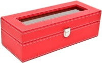 Kosher KWH014N-RED Watch Box(Red Holds 6 Watches)