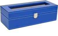 Kosher KWH014N-BLUE Watch Box(Blue Holds 6 Watches)