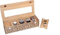 Essart Case 18 Watch Box(Brown, Holds 5 Watches)