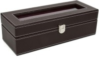 Kosher KWH014N-BROWN Watch Box(Brown Holds 6 Watches)
