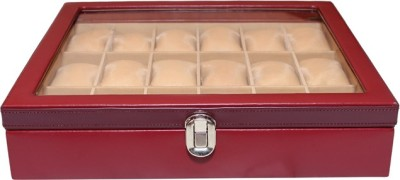 Essart Watch Organiser Watch Box(Maroon, Holds 18 Watches)
